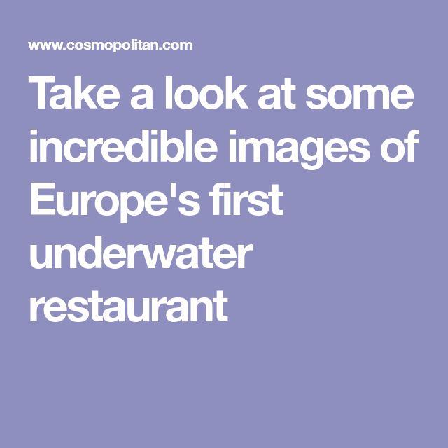 Unique Underwater Restaurant Ideas On Pinterest Bucketlist - Take a look inside europes first underwater restaurant
