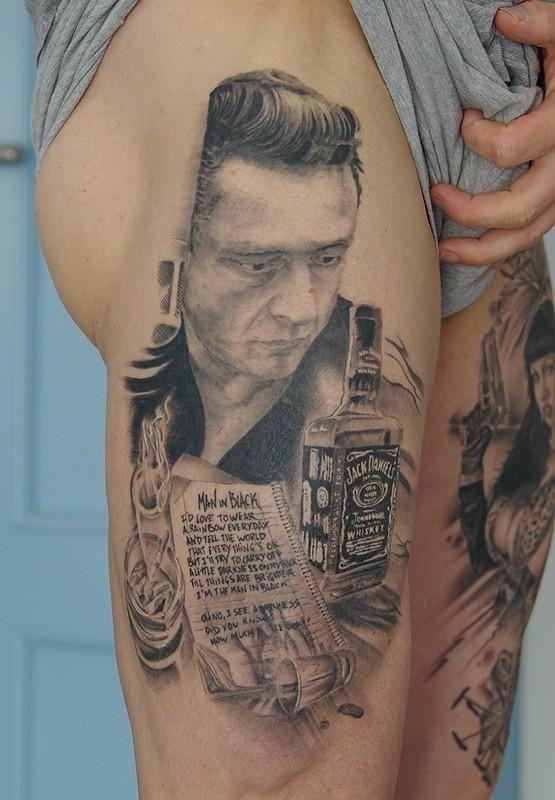 Coolest Johnny Cash Tattoo!