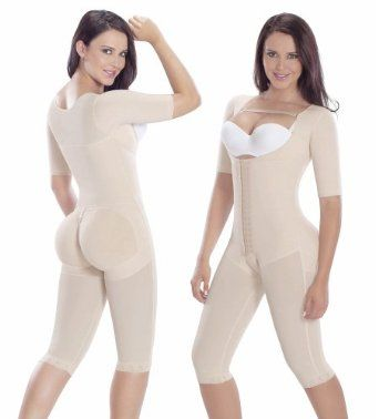 Fajas Colombianas post surgery post partum with sleeves - Beige - X Large MariaE. $76.30