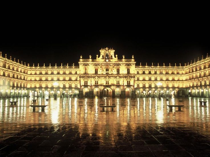 The main square in Salamanca, Spain.  This is our Spanish daughters home town (: