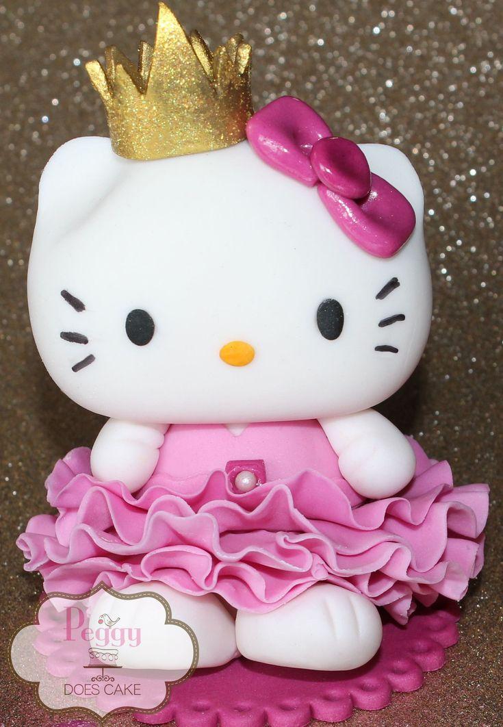 Fondant Hello Kitty Princess cake topper