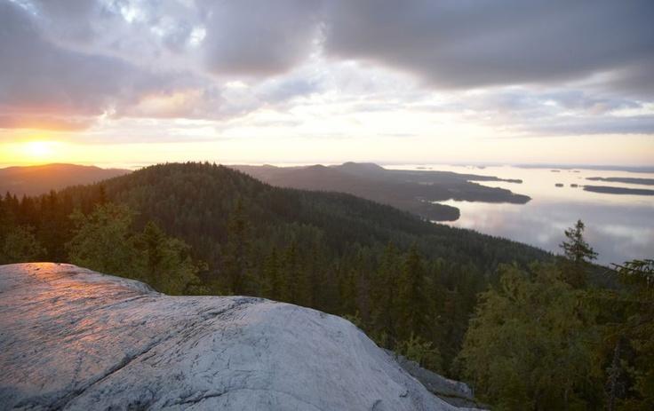 Sunset at Koli, Eastern Finland