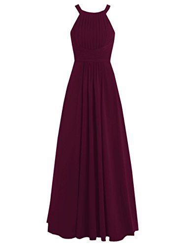 Dresstells® Long Chiffon Halter Neck Prom Dress with Straps Bridesmaid Dress Dresstells http://www.amazon.co.uk/dp/B019DFLW8G/ref=cm_sw_r_pi_dp_TrL-wb1FRQ6Q1