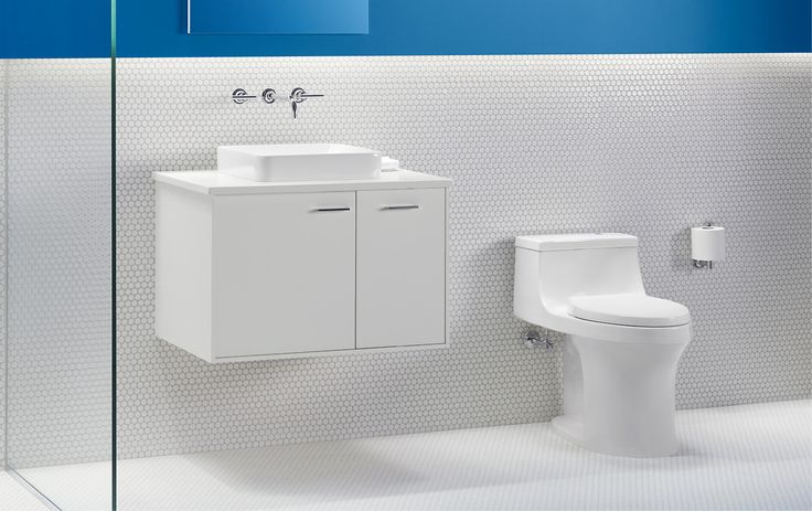 Classic white and hex tile is a timeless look that never goes out of style.