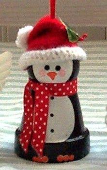Soon...penguin flower pot ornament instructions.  Please check back!