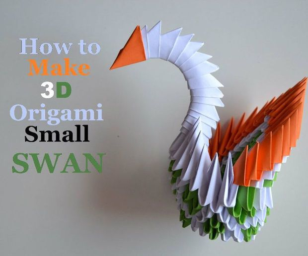 3D origami lovely valentines swan part 2  YouTube