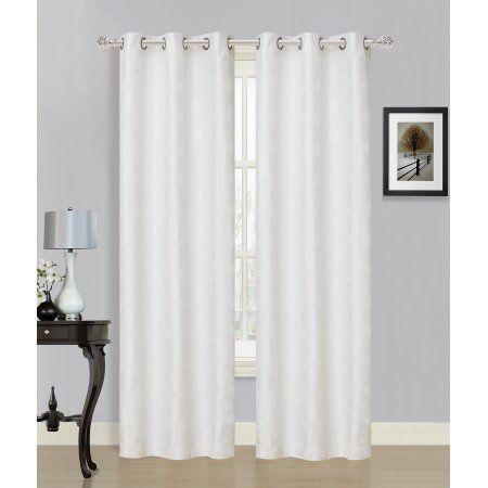 Dainty Home Medina Window Curtain Panel Set Of 2 84 Inch X 76