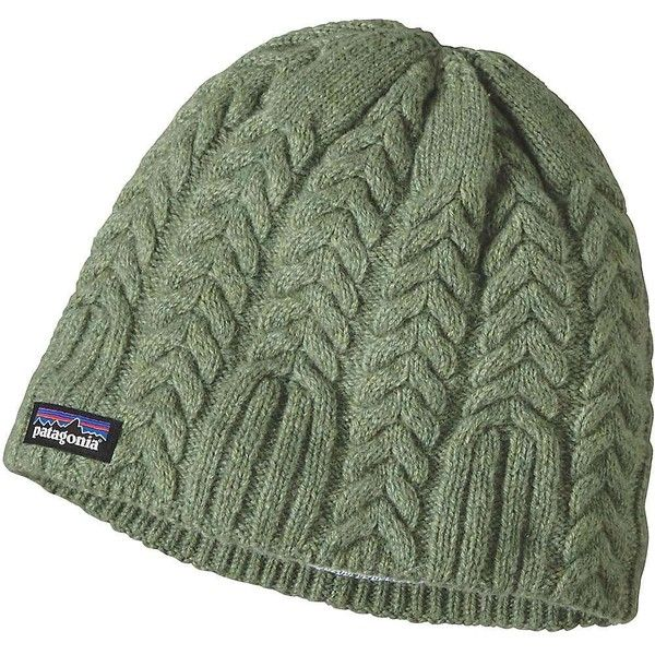 Patagonia Women's Cable Beanie ($39) ❤ liked on Polyvore featuring accessories, hats, transit green, fleece lined hat, patagonia, patagonia beanie, green hat and beanie hat
