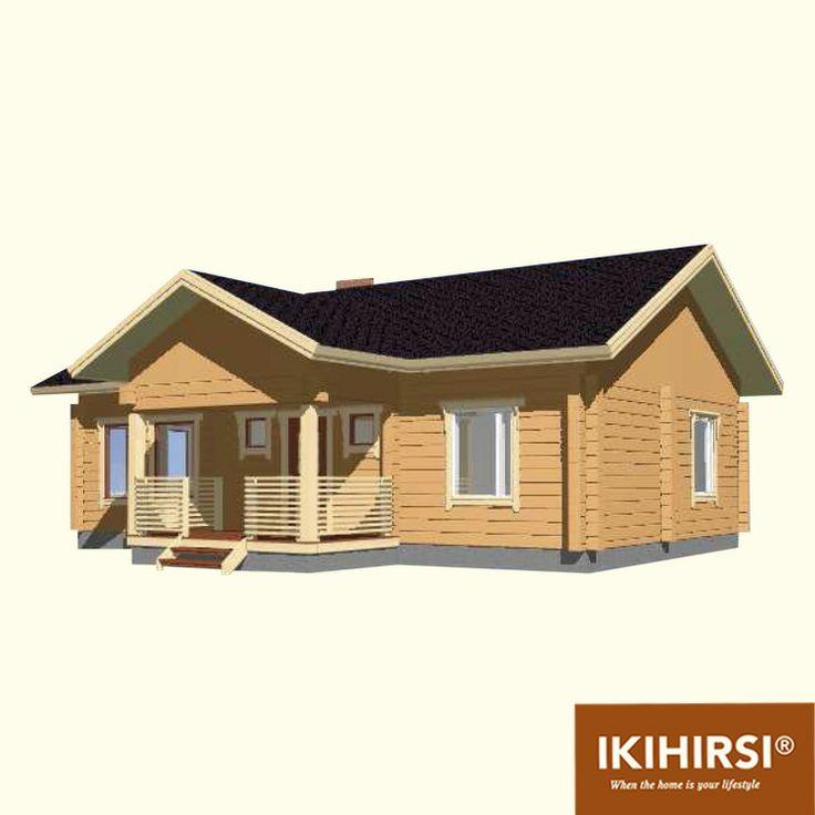 3D6. #деревянныйдом #Ikihirsi. Больше проектов одноэтажных деревянных домов на http://www.ikihirsirussia.ru/iki-houses/iki-proekty-1-etazh.html