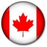 Canadian Flag Button Royalty Free Stock Photos