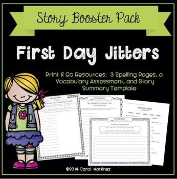 Get more out of your story, First Day Jitters, with this booster pack. You'll receive printable activities to enhance your Third Grade Reading Series curriculum.  It's critical to ensure that your students are building comprehension, vocabulary, and spelling skills. $