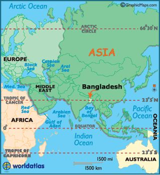 locator map of bangladesh in asia
