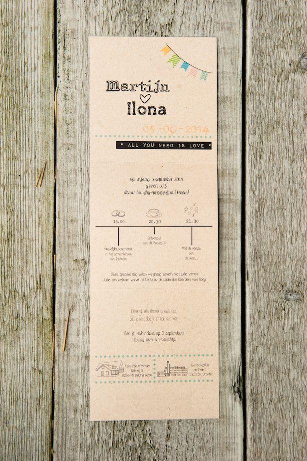 Trouwkaart van Martijn & Ilona
