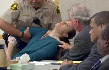 "<span style=""font-size:13px;"">Diana Lovejoy, 45, collapsed not long after hearing she had been convicted of the conspiracy charge as well as attempted murder. </span>"