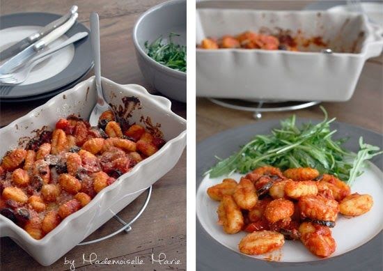 My Wonderwall by Marie: A man in my kitchen : gratin de gnocchi, sauce tomate au chorizo et olives