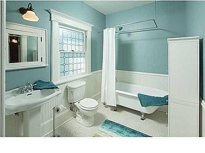 Pretty bath, house is circa 1910.