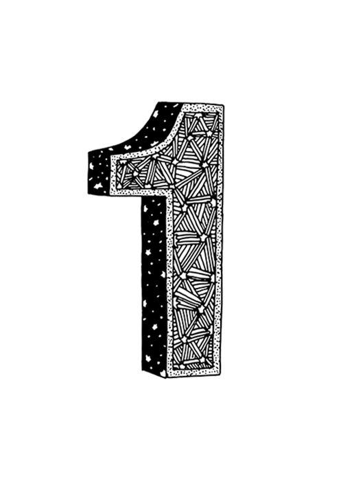 sofialimasousa illustration :) number one 1