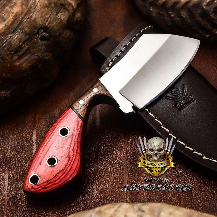 Alonzo knives usa custom handmade tactical cleaver 1095 knife pakka wood 3204 – Survival, Weapons ans wearable Technik