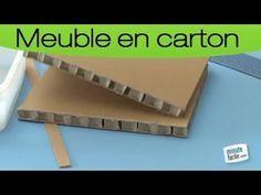 Comment fabriquer une étagère en carton ondulé (alvéolaire) ? dans ce tutoriel, une méthode astucieuse pour confectionner des meubles à bords courbes.