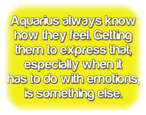 Aquarius! This is so so true.