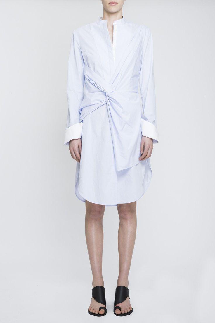 Acler - Rowe Stripe Shirt Dress Blue Stripe