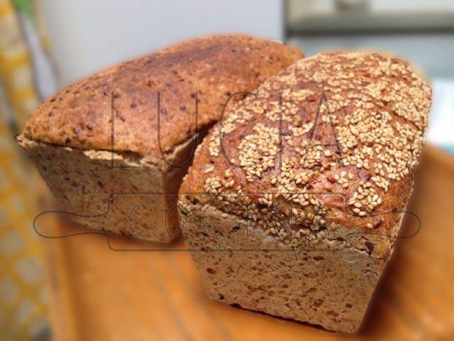 pan integral de semillas, bread