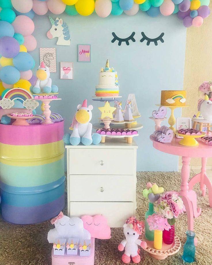 "4,752 Likes, 67 Comments - Festejando em Casa by Monalisa (@festejandoemcasaoficial) on Instagram: ""Super fofo essa decor candy de #unicornio By @meme.party"""