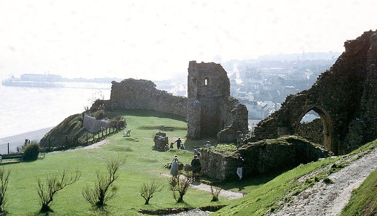 Hastings Castle in England