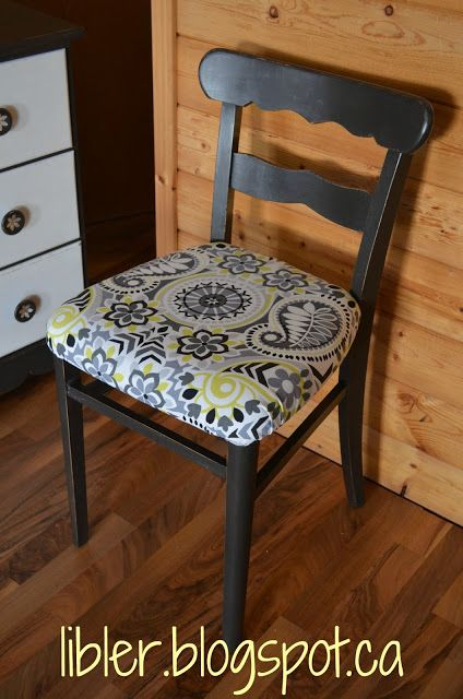 Padding a plain wooden (and boring) chair!