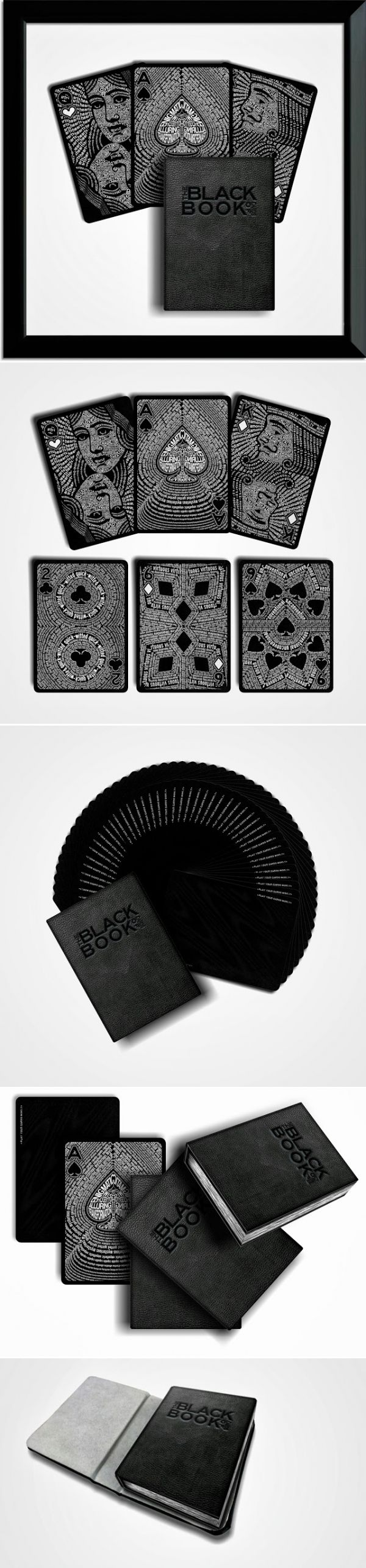 The Black Book of Cards - Typographic Deck... - a grouped images pin by Pinthemall.net - Pin Them All