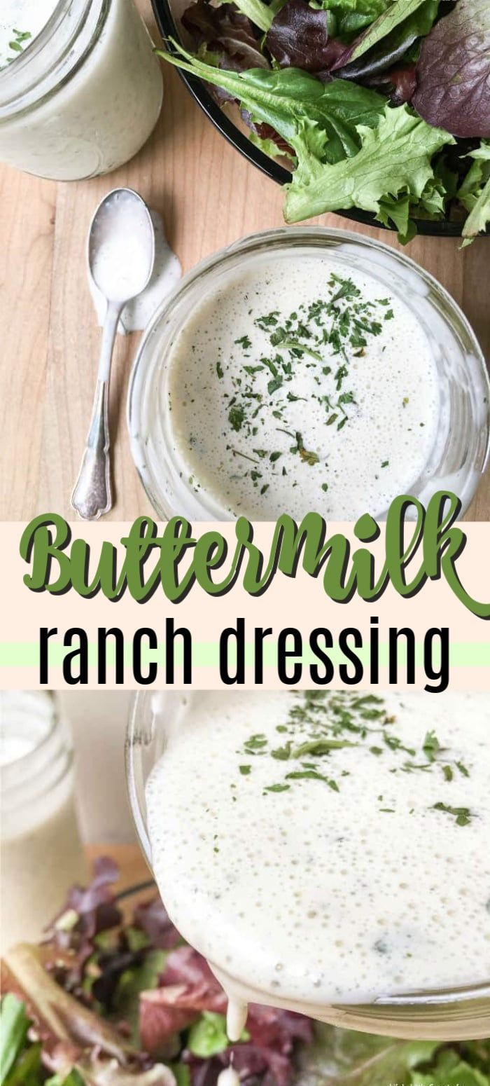 Try This Delicious Buttermilk Ranch Dressing Recipe At Home Instead Of Buying Buttermilk Ranch Dressing Recipe Creamy Salad Dressing Buttermilk Ranch Dressing