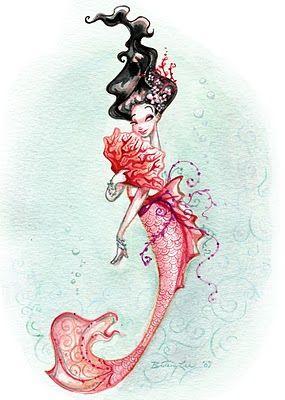 Brittney Lee geisha-mermaid