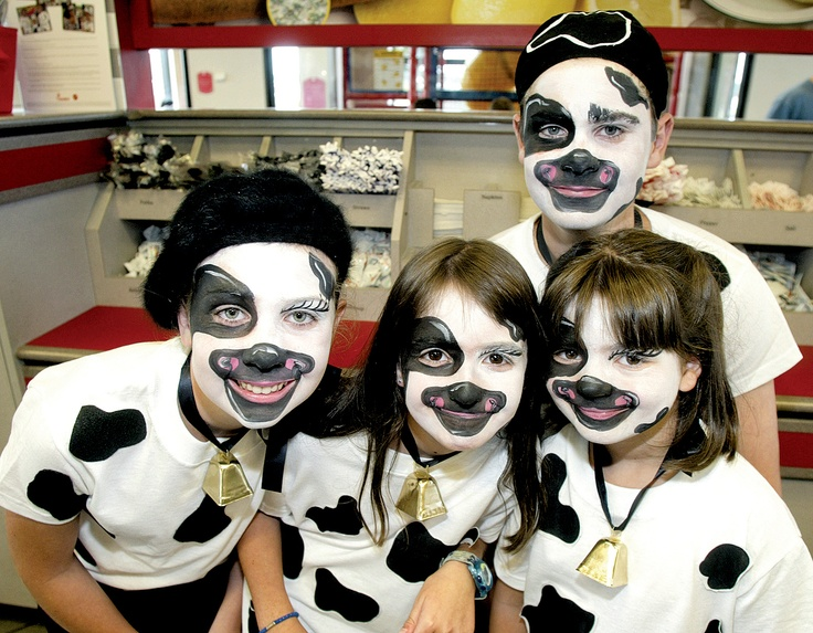 Cow costume face paint? like the bell