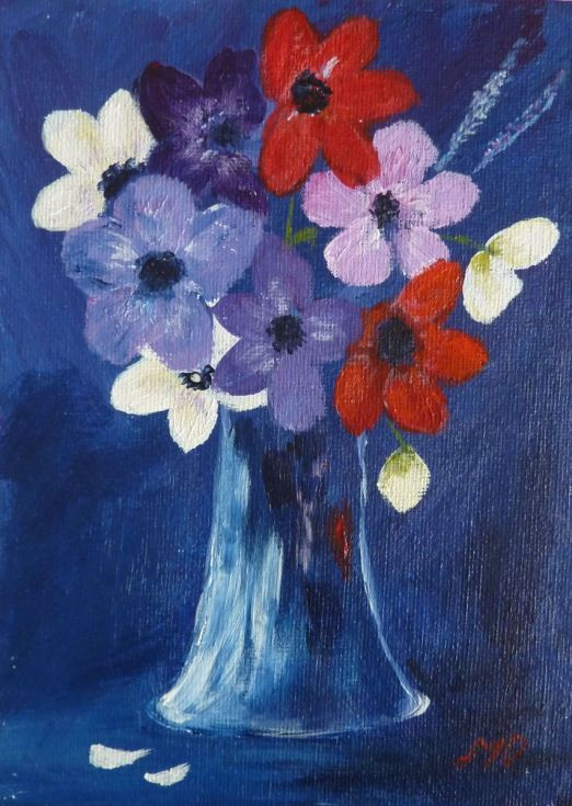 Buy Vase of Summer Flowers, Acrylic painting by Margaret Denholm on Artfinder. Discover thousands of other original paintings, prints, sculptures and photography from independent artists.