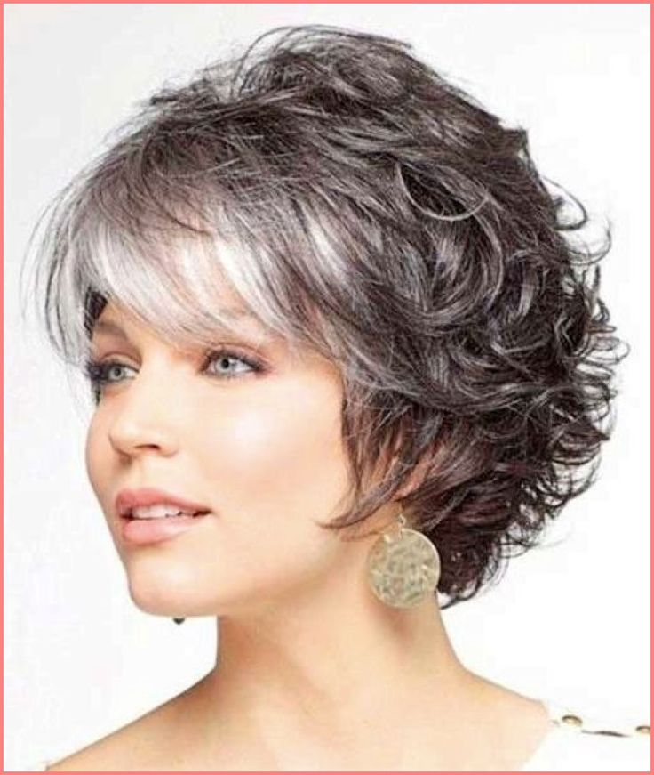 Hairstyle 2015 Short Curly With Bangs Layered And Edgy Hairdo For Older Women
