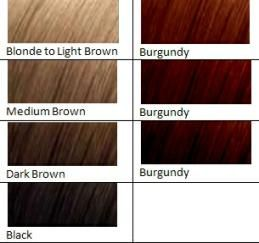 Burgundy color chart picture fashion dyed red hair dyed hair
