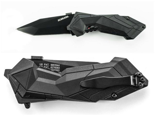 The Schrade SCHA3B M.A.G.I.C. knife is a stylish folder with Schrade's MAGIC spring assisted opening technology.
