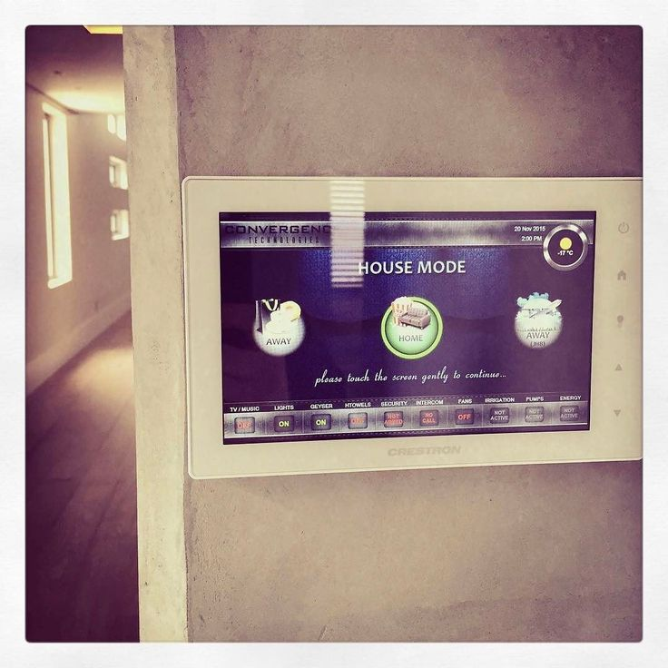 #convergencetechnologies makes all the technology in you home work seamlessly and so intuitive for the user. #crestron #capetown #capewinelands #homeautomation #audiovisual #intuitive #userinterface