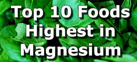 Top 10 Foods Highest in Magnesium You Can't Miss