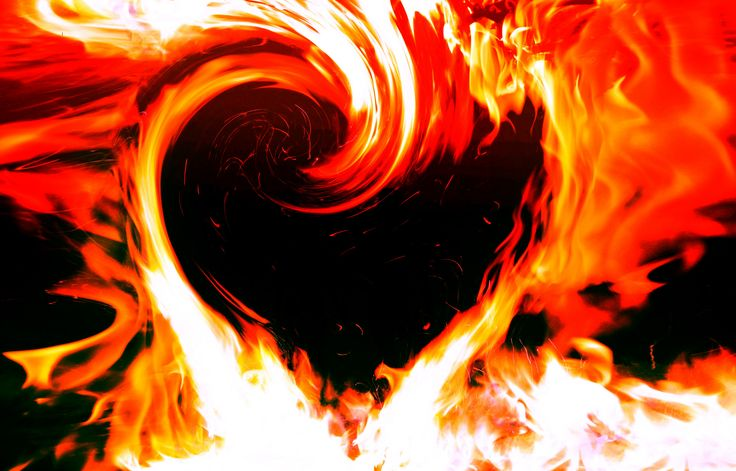 Burning Love Hd Wallpapers: Burning Love Heart