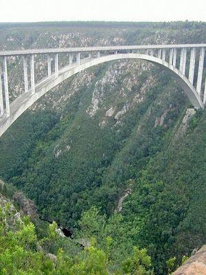Bloukrans Bridge, the world's highest commercial bungy bridge at 216m.
