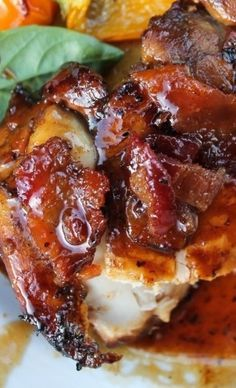 This grilled chicken is SO full of flavor from the marinade. A quick stint on the grill and a 4-ingredient sauce top it off.