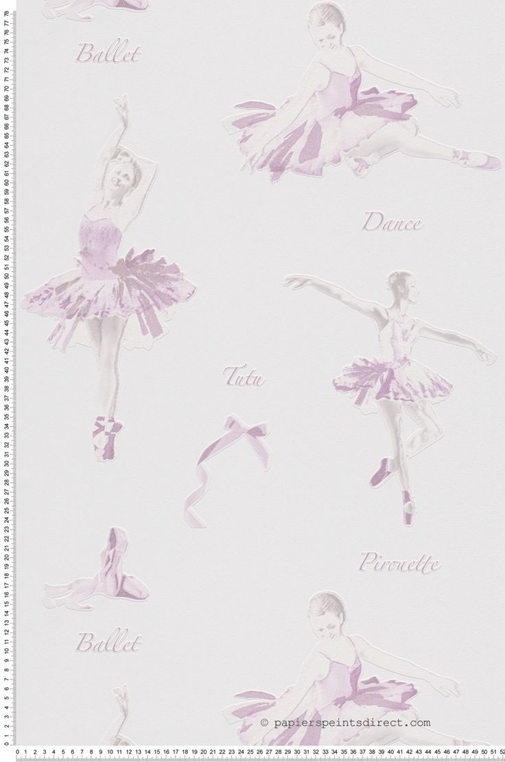 Ballet lilas paillettes - Papier peint Collection Boys and girls 5 d'AS Création