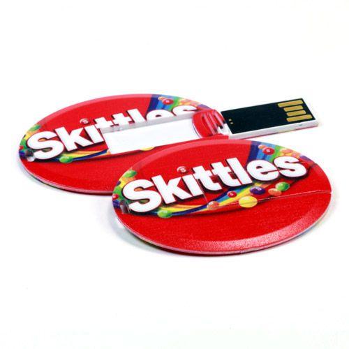 USB Card - Oval   Printed USB