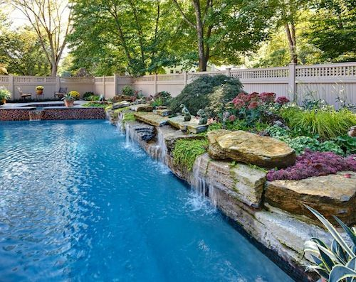 Swimming Pools With Waterfalls 132 best water features images on pinterest | swimming pools