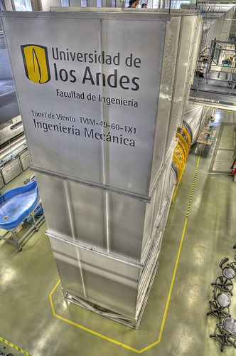 wind tunnel, School of Engineering, Universidad de los Andes, Bogotá, Colombia