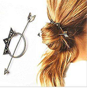 cuhair(tm) 2pcs fashion designer vintage antique gold arrow triangle hair clasp hair sticks clip pin claw barreete for women accessories (2pcs Cinnamon): Amazon.co.uk: Beauty