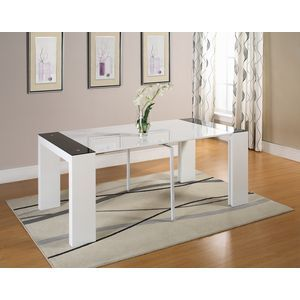1000 ideas about console extensible blanc laqu on pinterest console exten - Table blanc laque extensible ...