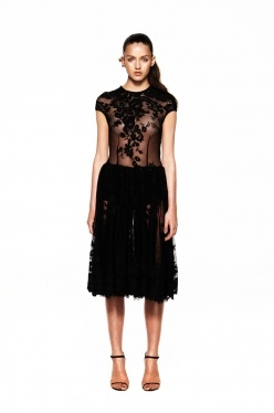 Embroidered Tulle Full Dress by Daniela-Stephanie   The Grand Social