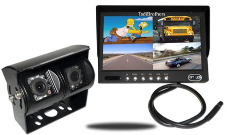 10.5-Inch Split Monitor and a 120° Double Mounted RV Backup Camera (RV Backup System)